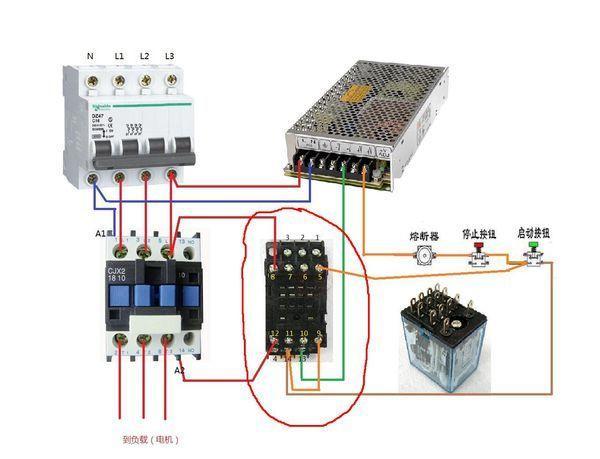 中间继电器控制交流接触器原理