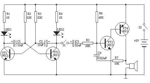 多谐振荡器电路图