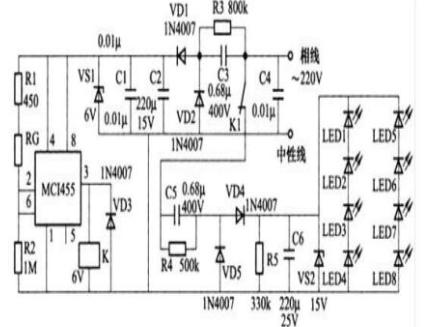 1.led照明电路图