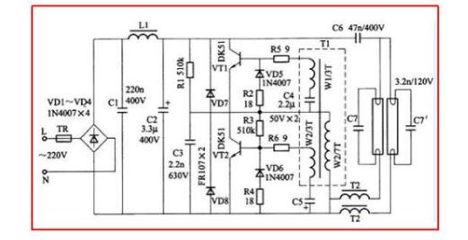 1.led节能灯电路图