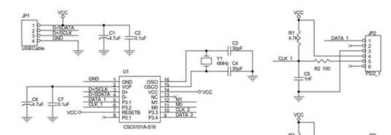 2.ps2转usb接线原理
