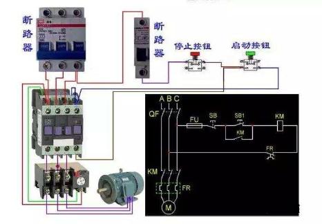 接触器的工作原理接线图