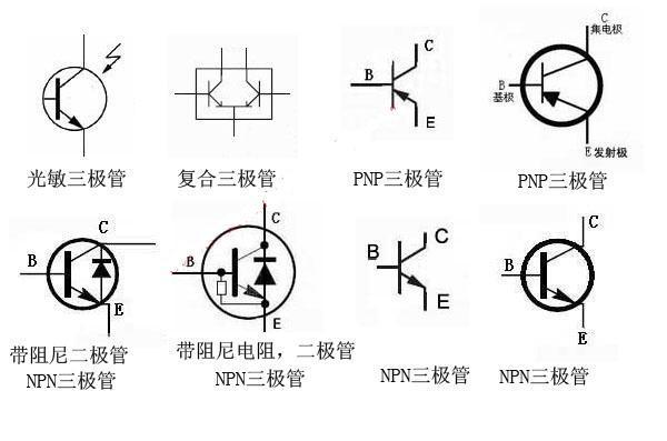三极管符号有哪些