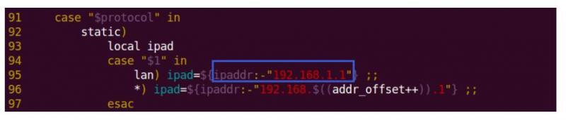 openwrt如何改本地ip地址