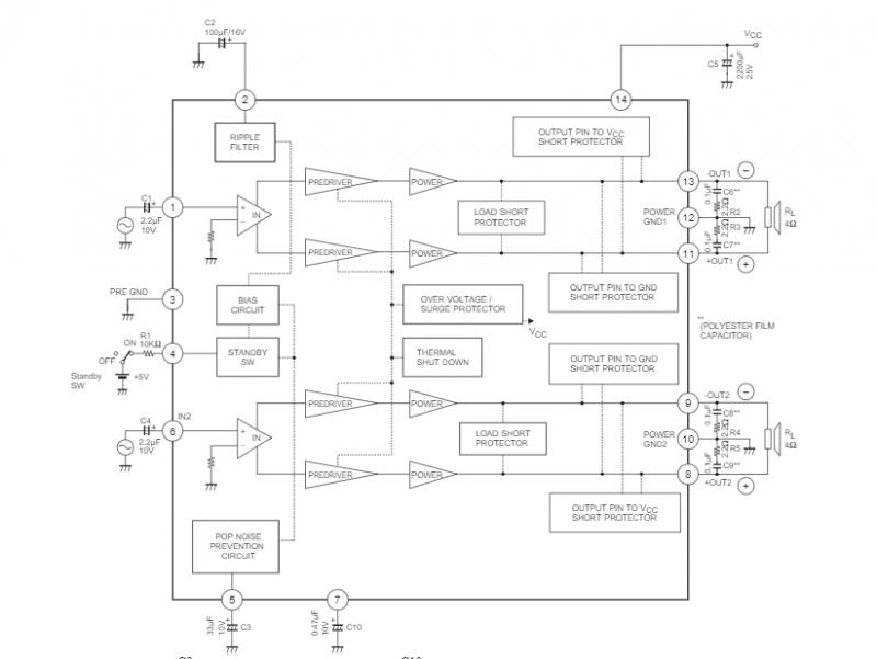 2.la4625引脚图及功能