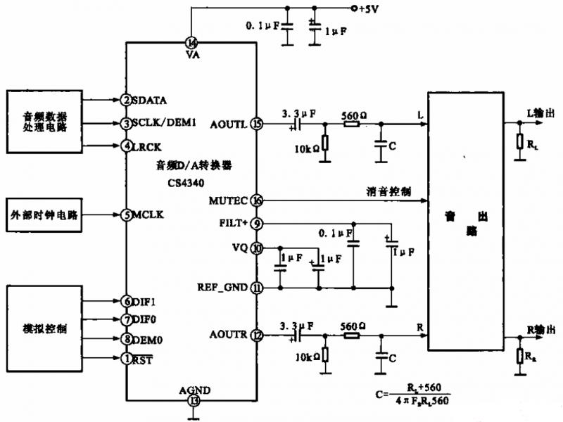 cs4340电路图