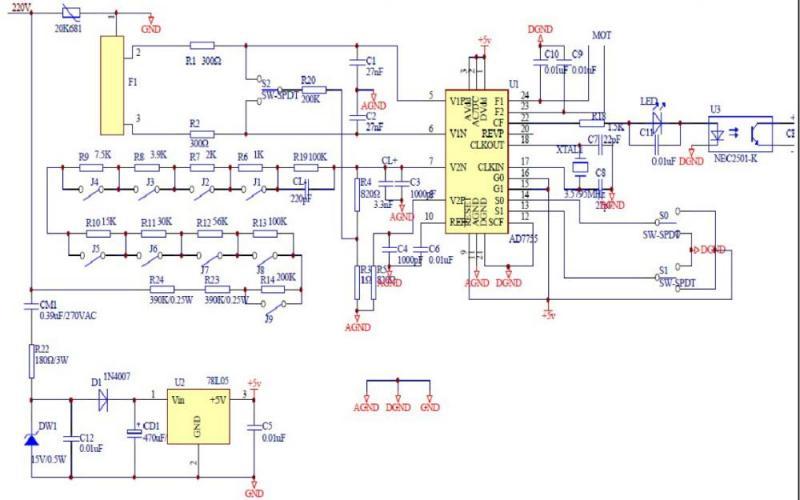 智能电表电路图