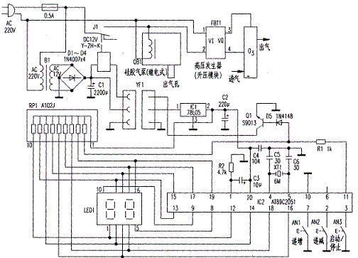 电子定时器电路图