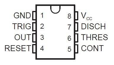 ne555定时器引脚图及功能