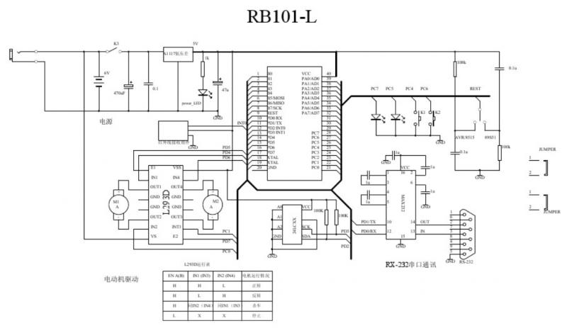 l293d电机驱动原理图