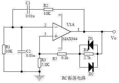 RC振荡电路原理图
