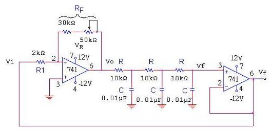 RC振荡电路频率计算公式