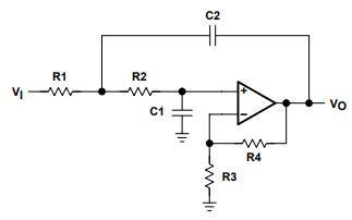 有源低通滤波器电路图