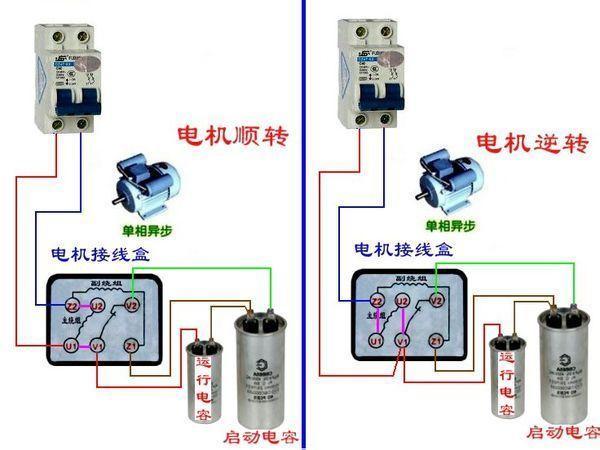 二相电机接线柱的接法
