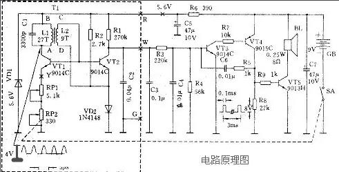 金属探测器电路图