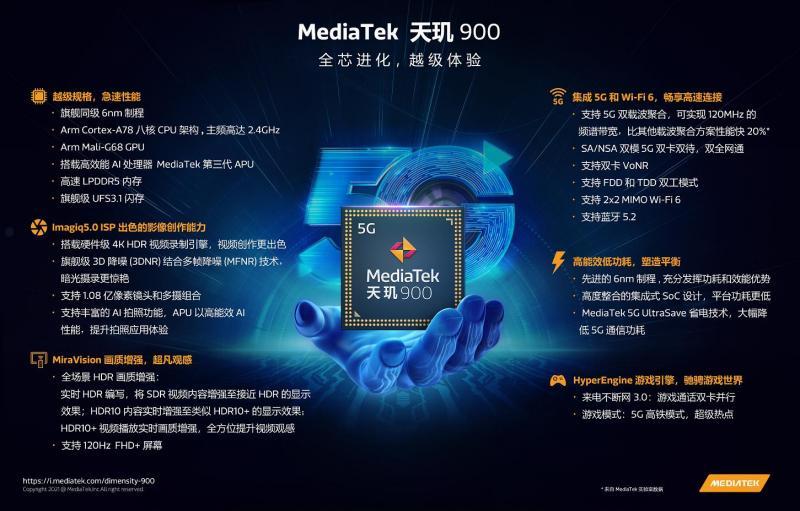 天玑900配置和性能总览