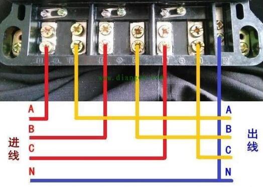 三相四线电子式多功能电能表怎么接