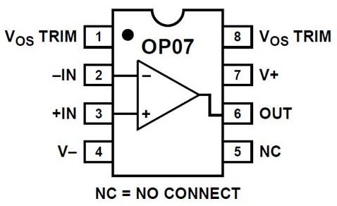 op07引脚图及其功能