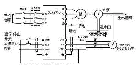 水泵变频器接线图