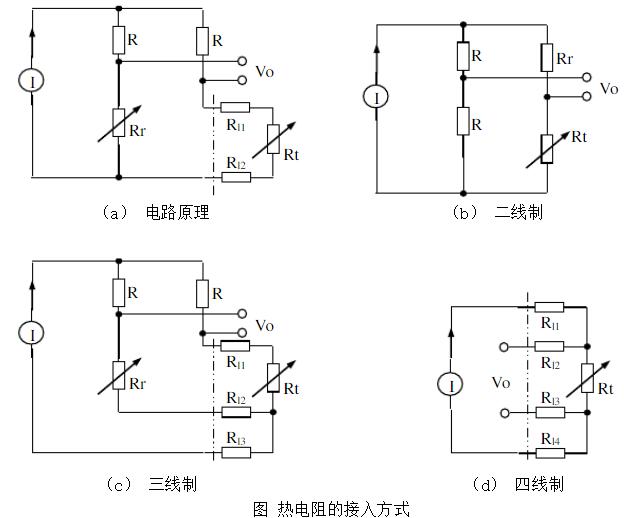 热电阻温度传感器的接线方法