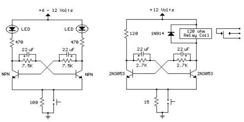 双稳态触发器电路图