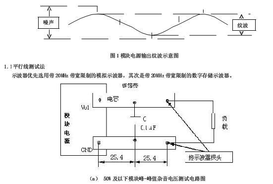 直流输出模块电源纹波和噪声测试