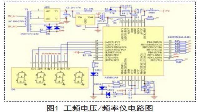 频率仪设计硬件电路