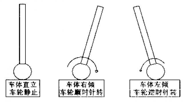 图2 两轮自平衡车模型图