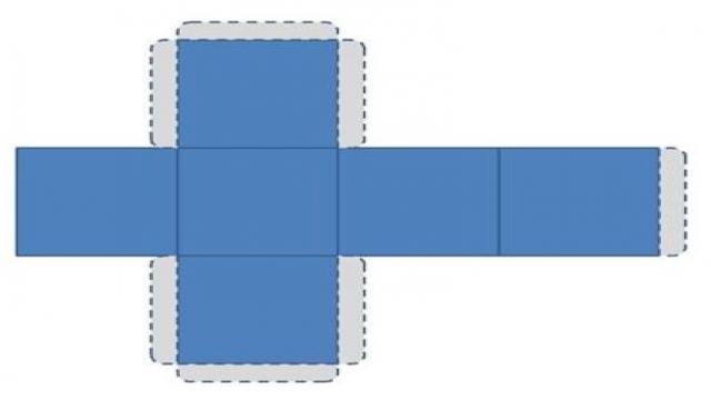 方纸盒子展开图