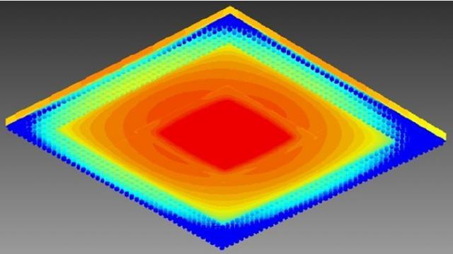 图%202:显示了焊球的%20BGA%20封装下侧的温度分布