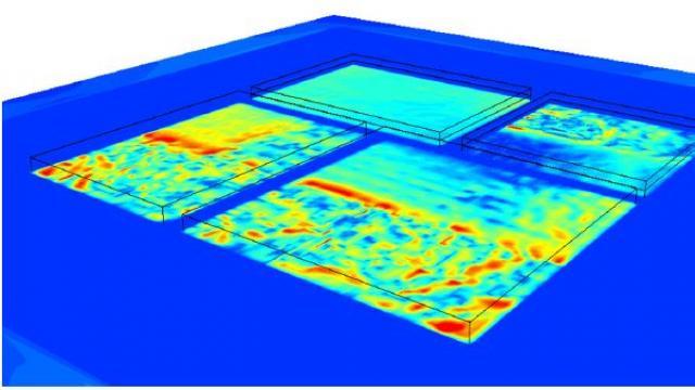 图%204:带芯片功率映射的多芯片封装详细模型