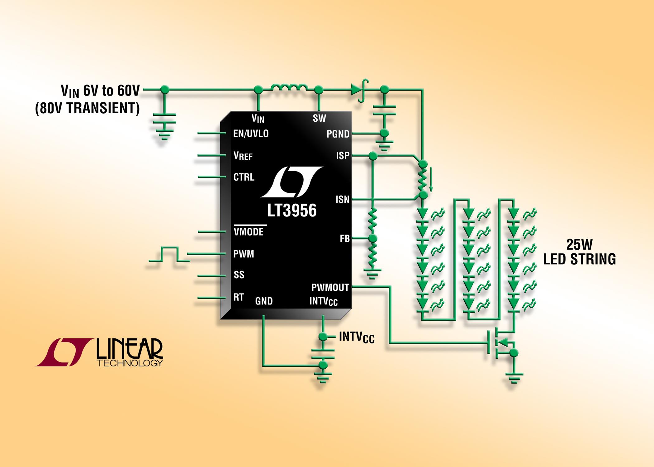 80V、恒定电压/电流转换器