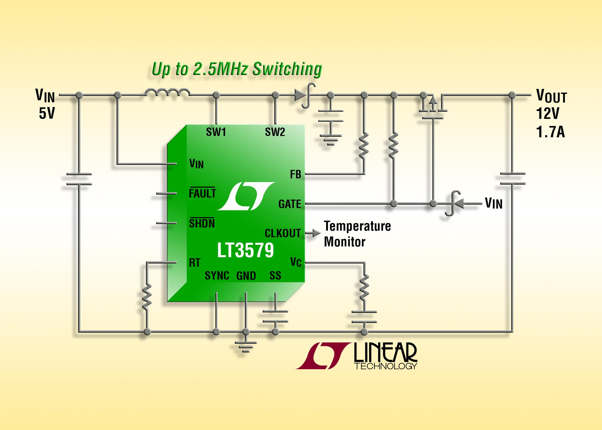 具集成故障保护的 6A、42V 升压/负输出 DC/DC 转换器