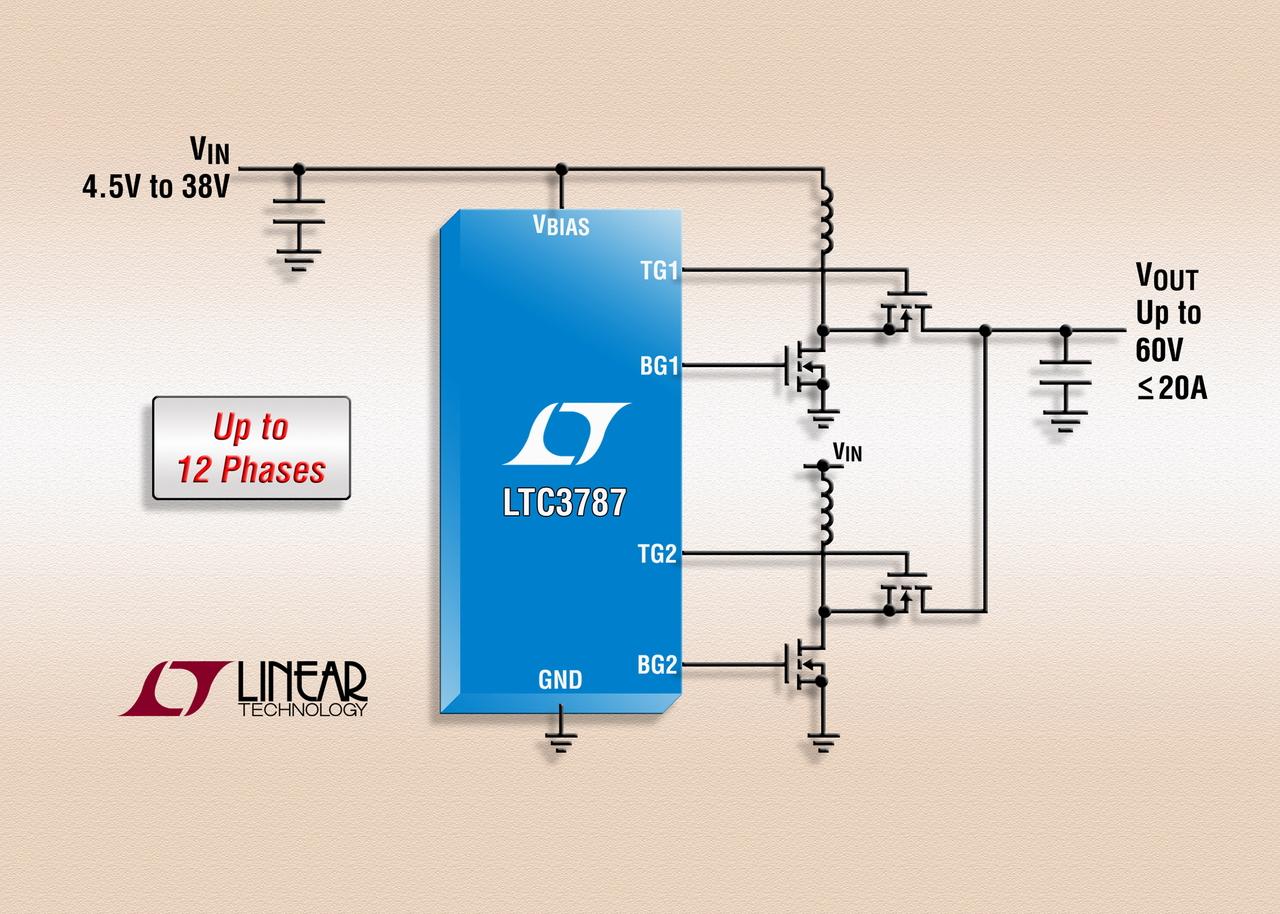 照片说明: 60V 多相同步升压型 DC/DC 控制器