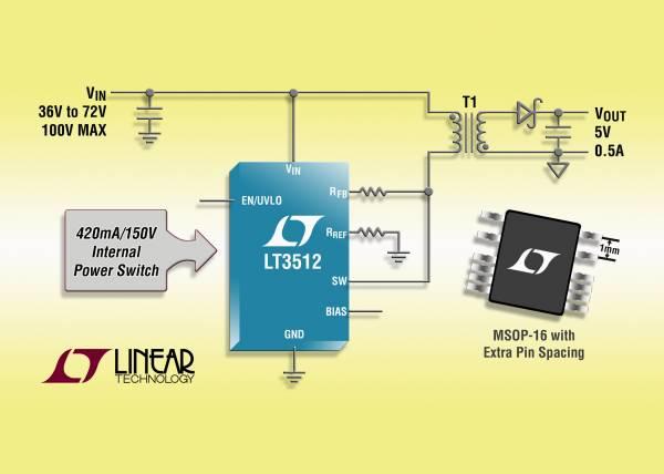 照片说明:高压隔离型单片反激式稳压器