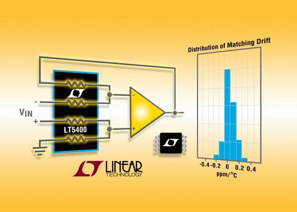 照片说明:四个独立电阻器具卓越的比例准确度和稳定性