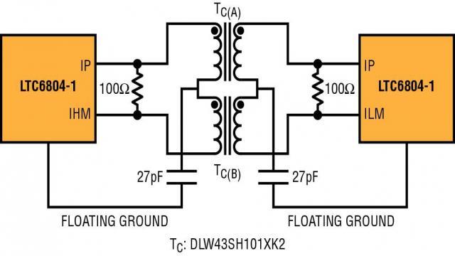图 6:菊花链式 isoSPI 链路用来在同一块电路板上实现互连