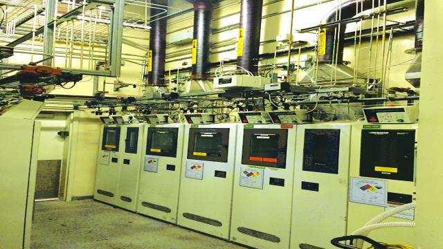 图 3:凌力尔特晶圆制造厂里的有毒气体柜处于严密监视之下,以确保正常运行时间