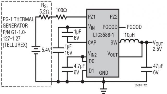 图 4:Seebeck 能量收集器