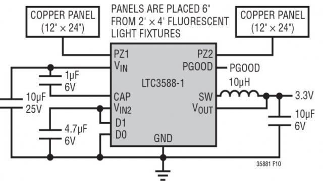 图 5:电场能量收集器