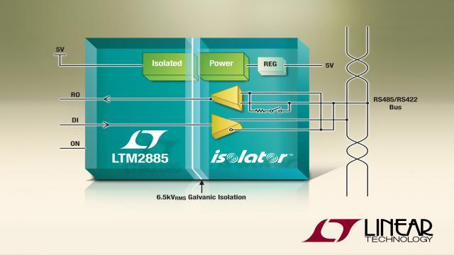 具可通断终端的 6500VRMS 隔离型 RS485 收发器