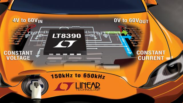 60V 输入 / 输出、同步降压-升压型控制器可提供超过 400W 功率
