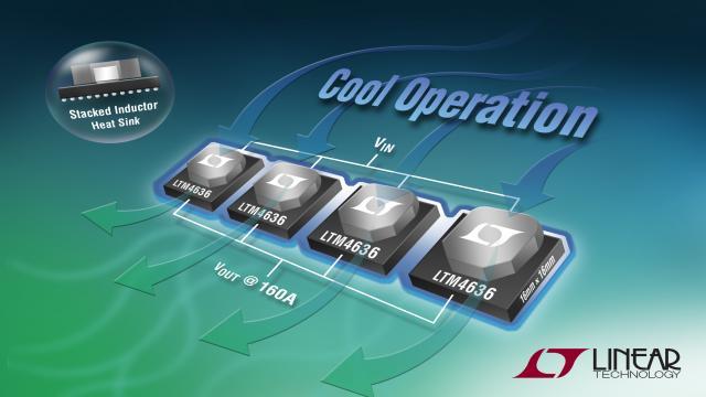 具有堆叠式电感器的可扩展 40A 电源 POL 稳压器