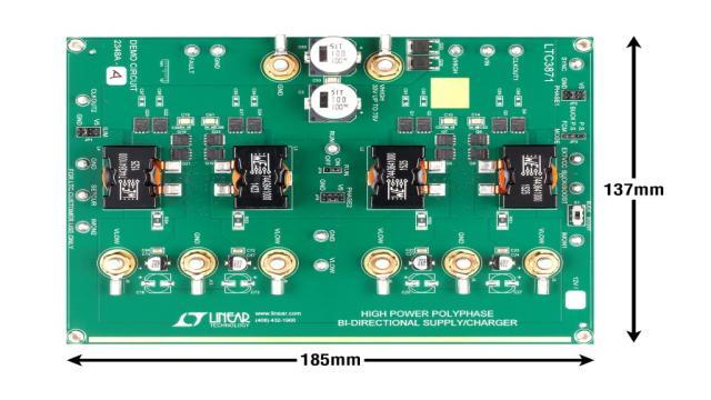 图 3:LTC3871 四相演示电路板照片