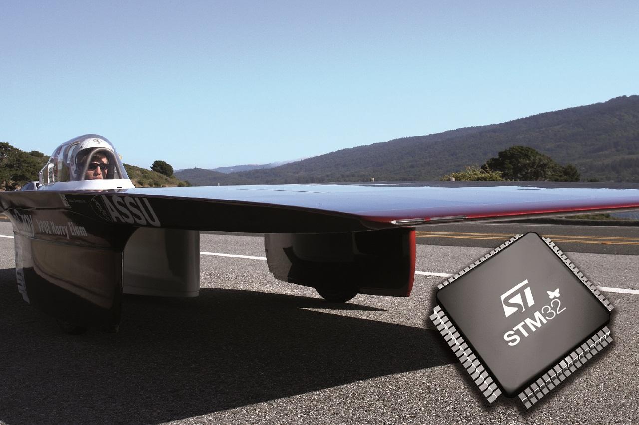 意法半导体(ST)微控制器芯片被斯坦福大学选定用于斯坦福太阳能汽车
