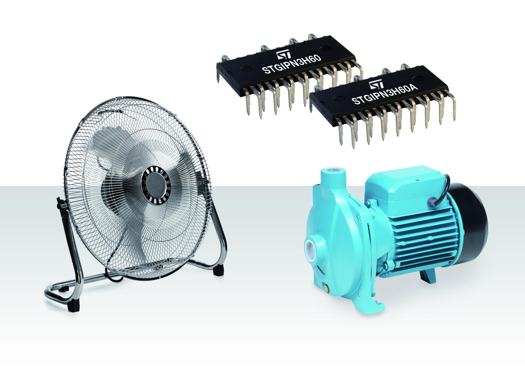 意法半导体(ST)推出微型电机驱动模块,简化高能效电器设计