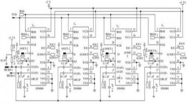 图3多片ISD4004与STM32的连接