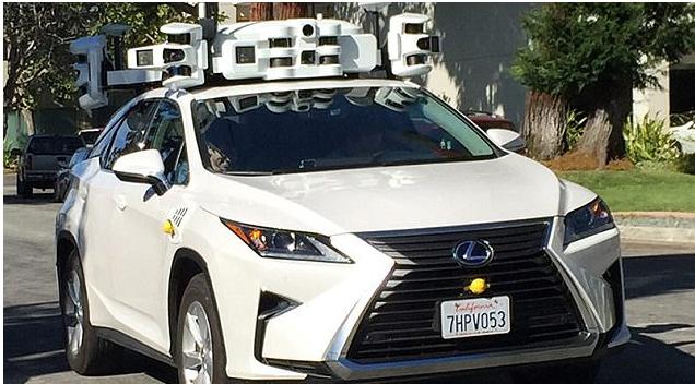 苹果测试无人驾驶汽车,车顶传感器引人注意1