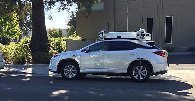 苹果测试无人驾驶汽车,车顶传感器引人注意2