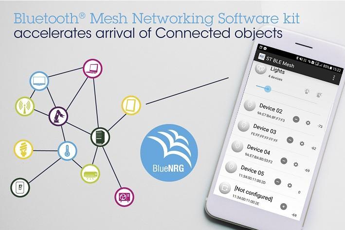 ST新闻图片 9月28日——意法半导体Bluetooth® Mesh网状网软件开发工具套件加快智能互联照明和自动化产品的问世